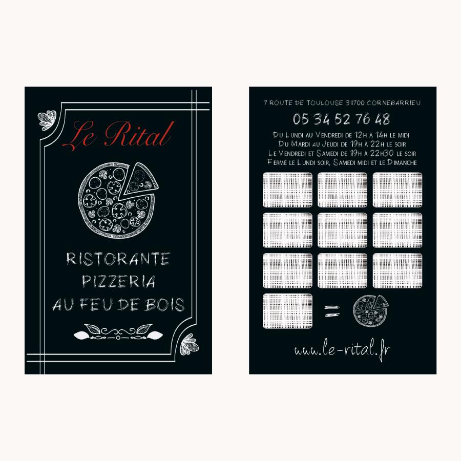 pizzeria restaurant le rital dcvo design directeur artistique webdesigner graphiste. Black Bedroom Furniture Sets. Home Design Ideas