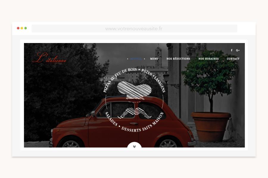 site internet l italienne - DCVO design